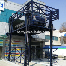 Warehouse vertical material lift platform guide rail cargo lift